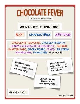Chocolate Fever LIterature Guide Novel Study