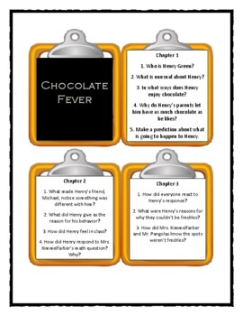 CHOCOLATE FEVER by Robert Kimmel Smith - Discussion Cards