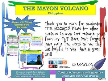 "FREEBIE CHOICE BOARD ""Philippines, Mayon Volcano"":  Writing Center W 6.8"