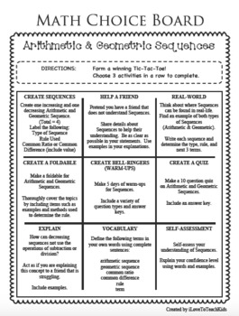 CHOICE BOARDS - Growing MEGA Bundle - Differentiated Math Tasks