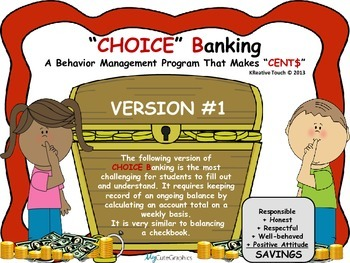 CHOICE Banking-A Behavior Management Program That Makes Cents!