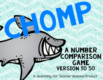 CHOMP: A Number Comparison Game [Version to 50]