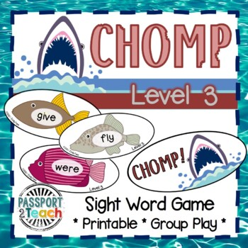 CHOMP! First Grade Dolch Sight Words Game