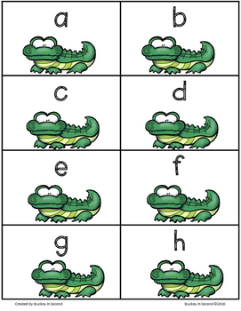 CHOMP! Practicing Letters Lowercase and Uppercase