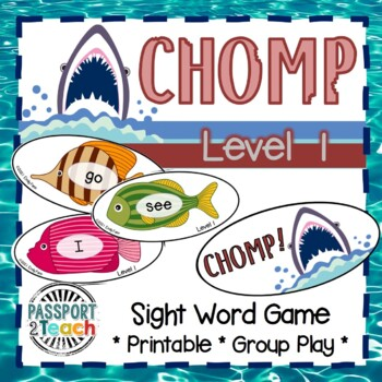 CHOMP! Pre-Primer Dolch Sight Words Game FREEBIE!