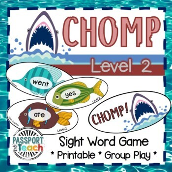CHOMP! Primer Dolch Sight Words Game