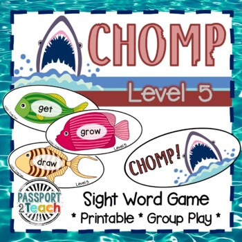 CHOMP! Third Grade Dolch Sight Words Game