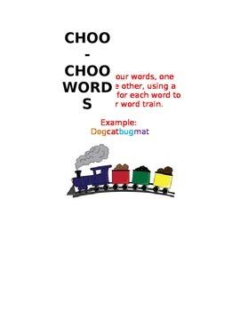 CHOO CHOO WORDS