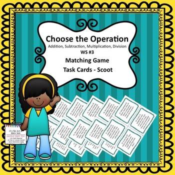 CHOOSING OPERATION TASK CARDS ASMD #3
