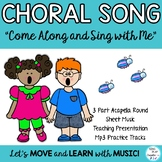 "Song and Solfege Lesson ""Come Along and Sing With Me"" 3 pa"