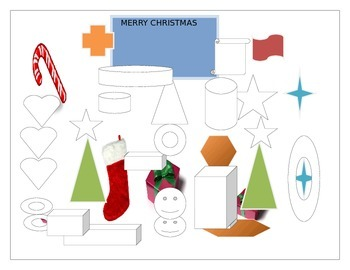 CHRISTMAS/GEOMETRY COLORING PAGE