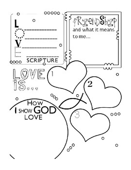 CHRISTIAN VALENTINES DAY COLORING, 10 PAGES, CHRISTIAN VALENTINES