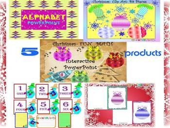 Winter Activities - Math - Alphabet - PowerPointpresentation - ClipArt