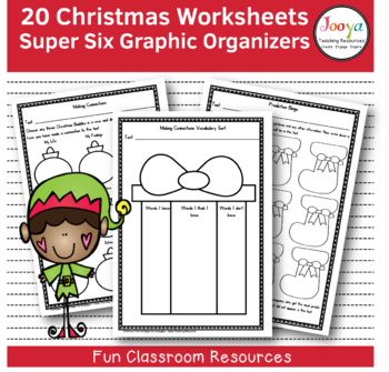 CHRISTMAS - 20 Christmas Themed Super Six Comprehension Strategies