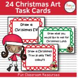 24 Christmas Art Task Cards
