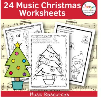 CHRISTMAS  - 24 Music Worksheets