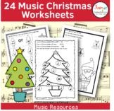 Music Christmas Worksheets