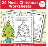 CHRISTMAS  - 24 Music Worksheets
