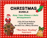 CHRISTMAS 3 Easy Chimes & Bells Arrangements BUNDLE