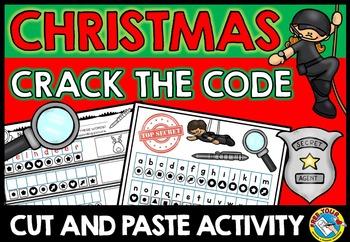 CHRISTMAS ACTIVITY KINDERGARTEN, 1ST GRADE (CHRISTMAS SECRET WORD CRACK THE CODE