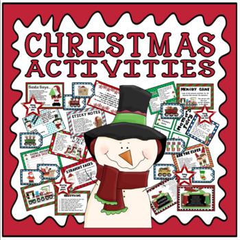 CHRISTMAS ACTIVITIES AND GAMES TEACHING RESOURCES EYFS KS1 KS2 KS3