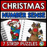 CHRISTMAS ACTIVITIES KINDERGARTEN (NUMBER SENSE CENTER PUZZLES)
