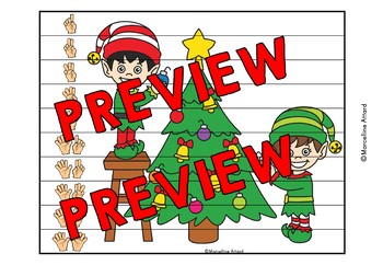 CHRISTMAS ACTIVITIES KINDERGARTEN (NUMBER SENSE CENTER PUZZLES) SANTA'S WORKSHOP