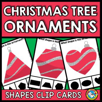 2D SHAPE CHRISTMAS ACTIVITIES KINDERGARTEN (ORNAMENT CLIP CARDS)