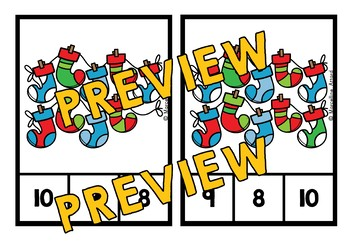 CHRISTMAS ACTIVITIES KINDERGARTEN, PRESCHOOL DECEMBER MATH CENTER COUNTING 1-10