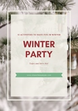 CHRISTMAS ACTIVITIES ( winter party)