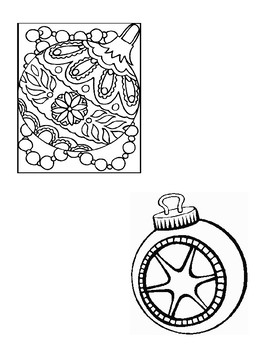 CHRISTMAS ACTIVITIES, COLORING COLOURING ORNAMENTS, XMAS ACTIVITIES TEMPLATES