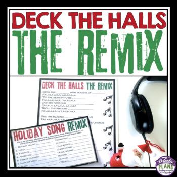 Christmas Remix.Christmas Activity Deck The Halls Holiday Song Remix