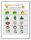 CHRISTMAS ACTIVITY: IDENTIFYING SAME/ DIFFERENT: K- 1,  ESL