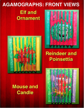CHRISTMAS Activities and Crafts: Three Color-by-Number Agamographs