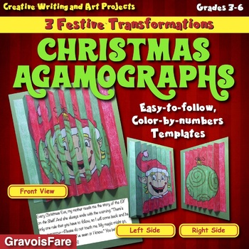 CHRISTMAS AGAMOGRAPHS: Three Festive, Color-by-Number Tran