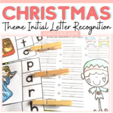 CHRISTMAS: ALPHABET CLIP-IT CARDS