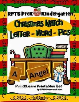 CHRISTMAS ALPHABET MATCH - LETTER WORD PICTURE
