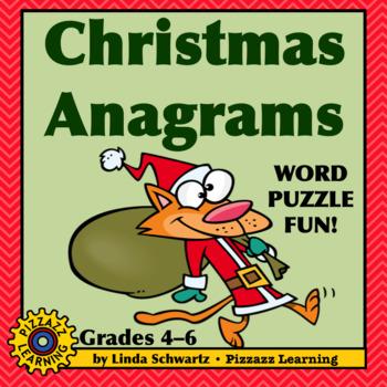 CHRISTMAS ANAGRAMS • CRITICAL THINKING  FUN