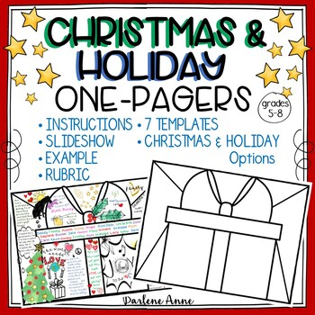 CHRISTMAS AND HOLIDAY ONE PAGERS