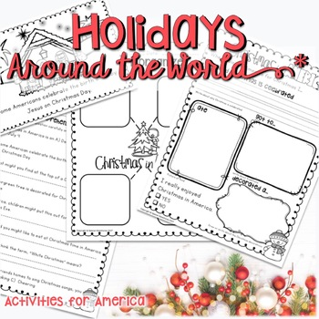 CHRISTMAS AROUND THE WORLD ACTIVITIES,  READING, RESEARCH AND WRITING AMERICA