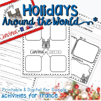 CHRISTMAS AROUND THE WORLD ACTIVITIES, READING,  RESEARCH, AND WRITING France