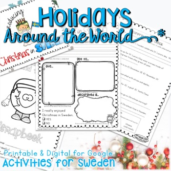 CHRISTMAS AROUND THE WORLD ACTIVITIES, READING,  RESEARCH, AND WRITING SWEDEN