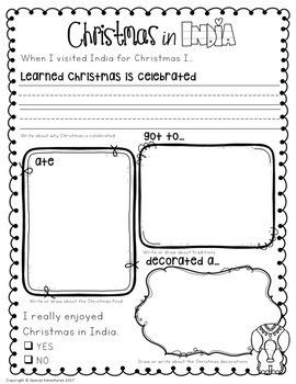 CHRISTMAS AROUND THE WORLD ACTIVITIES, SCRAPBOOK, AND WRITING