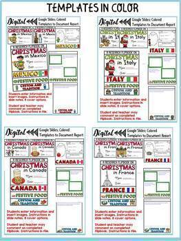 CHRISTMAS AROUND THE WORLD DIGITAL RESEARCH BUNDLE: GOOGLE CLASSROOM