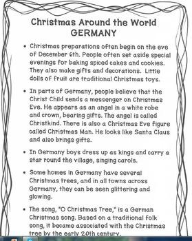 O Christmas Tree In German.Christmas Around The World Germany O Christmas Tree Freebie