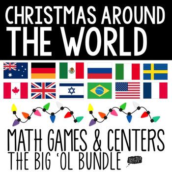 Christmas Around the World Math Centers (Bundle)