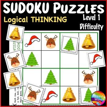 CHRISTMAS Activities Kindergarten Logical Thinking SUDOKU