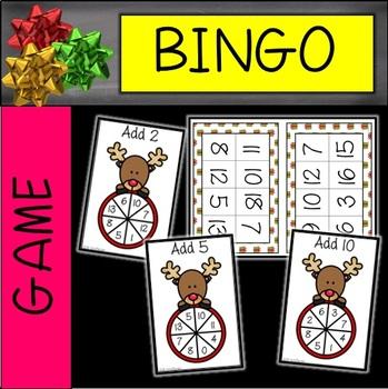 Adding 2, 5, and 10 Christmas Partner Bingo