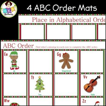 Christmas Bingo ● Alphabet Bingo ● ABC order ● Alphabet Cards ● Games