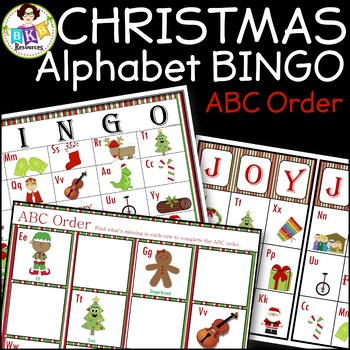 Christmas Activities ● Alphabet Bingo ● ABC order ● Alphab
